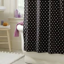 Black Bathroom Curtains Dottie Shower Curtain Pbteen