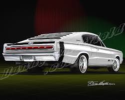 67 dodge charger rt 1966 1967 dodge charger car print poster by danny whitfield