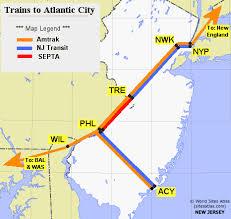 new england central railroad map trains to atlantic city guide amtrak septa nj transit