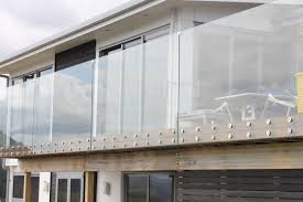 outdoor frameless tempered glass balcony railing patch fitting