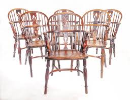 Windsor Armchairs A Rare Set Of 6 Windsor Armchairs Early Oak At Wysdom Hall