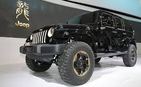 gold jeep wrangler unleash the dragon jeep wrangler dragon concept debuts in beijing
