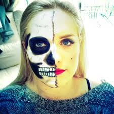Halloween Skull Face Makeup by Marilyn Monroe Skull Face Halloween Makeup Jordan U0027s Beautiful Life