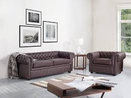 Sofa Chesterfield Tufted Leather Sofa Brown Chesterfield Beliani