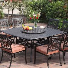Aluminum Outdoor Chairs Darlee St Cruz 9 Piece Cast Aluminum Patio Dining Set With Lazy