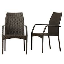 Wicker Patio Dining Chairs Modern Wicker Outdoor Dining Chairs Allmodern