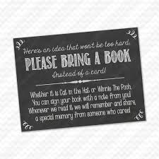 Baby Shower Instead Of A Card Bring A Book Please Bring A Book Instead Of A Card Insert For Baby Shower