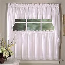 White Kitchen Curtains by Eyelet Kitchen Curtains Curtain Design