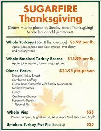 thanksgiving meal planning sugarfire smoke house bbq st louis washington u0026 st charles we