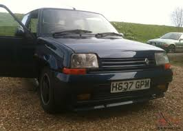 renault car 1990 1990 renault 5 gt turbo raider blue