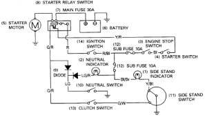 cbr1000 electric starter circuit diagram