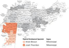 Brown Line Map Tva Mississippi Region