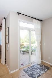 sliding door curtain ideas pinterest sliding glass door curtain