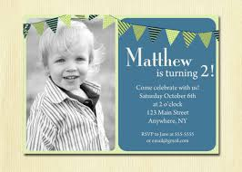 Baby 1st Birthday Invitation Card 2nd Birthday Invitations For Boys