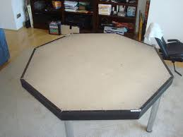 Octagon Poker Table Plans How To Build A Good Looking Octagon Poker Table On The Cheap 7 Steps