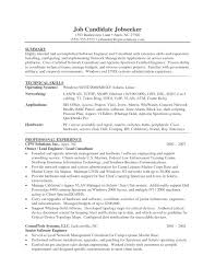 Best Resume For Network Engineer Resume Templates For Software Engineer Resume Examples 2017