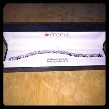 fine silver plated bracelet images Macy 39 s jewelry diamond accent fine silver plate bracelet poshmark jpg