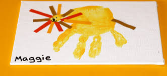 lion handprint craft for kids the chirping moms