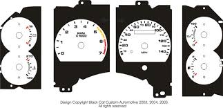 mustang custom gauges black cat custom automotive ford mustang faces 1987 to 2004