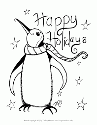 happy holidays coloring pages printable kids coloring