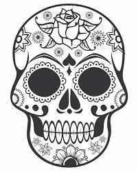 Tinkerbell Halloween Coloring Pages Halloween Skull With Ornate Flowers Coloring Page 13384