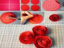 membuat hiasan bunga dari kertas lipat cara membuat bunga mawar dari kertas yang cantik youtube