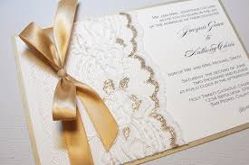 Wedding Programs With Ribbon Gold Wedding Invitations With Glamorous Touch Registaz Com