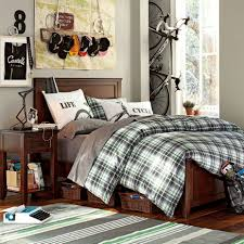 mesmerizing cool room designs for guys with cozy bed organizer