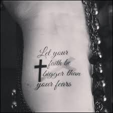 tatto ideas 2017 temporary religious faith cross