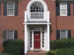decorating simple fascinating red door color for red brick house