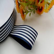 navy and white striped ribbon 100 polyester free shipping 1 newest navy blue stripe grosgrain