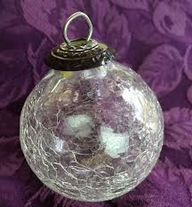 kugel midwest ornament clear crackle glass new and reproduction