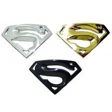 lexus glitter emblem 3d superman s logo badge metal motorcycle accessories car styling