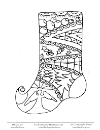 free christmas coloring page stocking repin by pinterest for