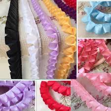 wide satin ribbon 10 yards lot 2 5 cm wide basic satin ribbon fold lace doll dress