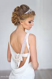 marriage bridal hairstyle wedding hairstyle with sleek curl updo tiara u0026 neutral make up