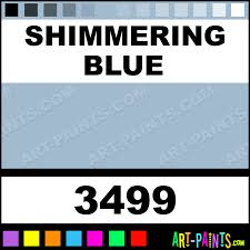 shimmering blue artist acrylic paints 3499 shimmering blue