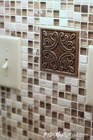 Do It Yourself Backsplash Ideas by Custom Tile Inlay Above The Gas Range Kitchen Tile Backsplash
