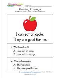 kindergarten reading passage kindergarten reading passages apple a wellspring