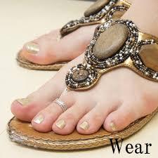 male toe rings images Shinjuku gin no kura arrest pattern silver toe rings one size jpg