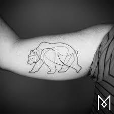 minimalist tattoo series by mo ganji shows depth of line tattoos
