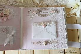 handmade photo albums album photo wedding lace white flowers shop online on