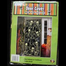 halloween decorations skeletons gothic skeleton prisoners door cover mural halloween party