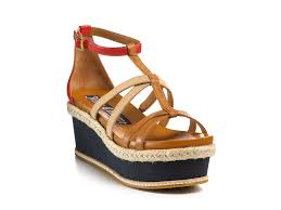 juicy couture sandals moira flat strappy wedges in brown lyst