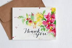 lettered wedding thank you card thanks thank you thank you