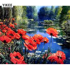 Poppy Home Decor B011 Embroidery Poppy Home Decor Floral