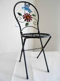 Hummingbird Garden Decor Direct International Plant Stand Chair W Flower U0026 Hummingbird