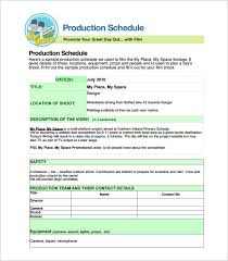 Production Schedule Template Excel Free Production Scheduling Template 4 Free Word Excel Pdf Documents