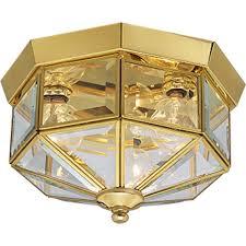 Polished Brass Bathroom Lighting Fixtures Progress Lighting P5788 10 Octagonal Close To Ceiling Fixture With