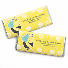 bee baby shower honey bee personalized baby shower candy bar wrapper favors